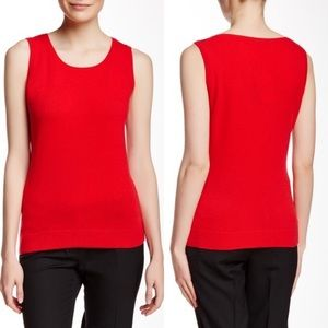 Lafayette 148 Pure Wool Sleeveless Top